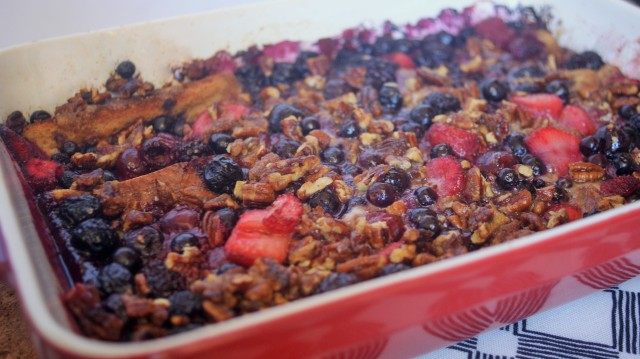 overnight baked berry french toast