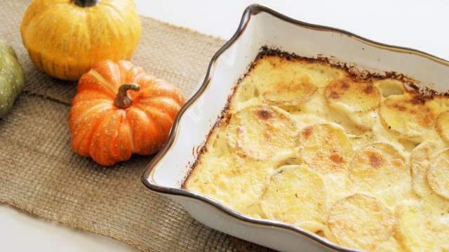 herb and garlic scalloped potatoes