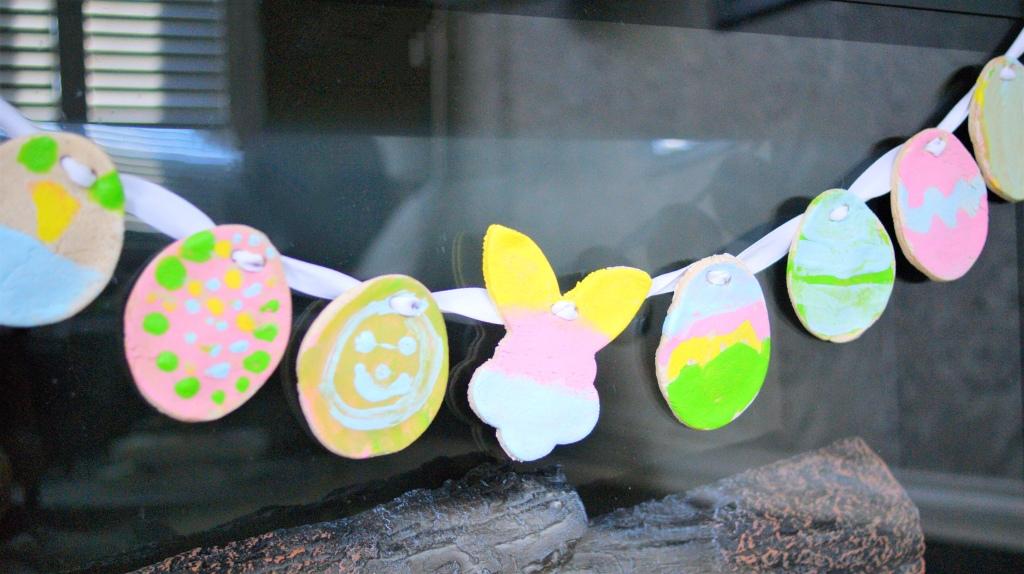 Salt dough Easter garland